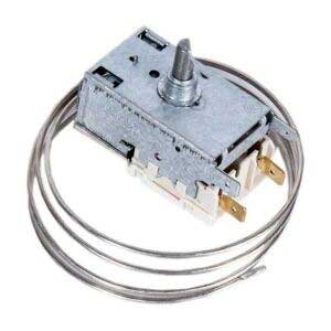 Термостат K50-L3392 для однокамерных холодильников с температурой морозильного отделения -12°C. Терморегулятор К-50 L3392 холодильников Атлант. Датчик реле температуры К50L3392. Длина капиллярной (сильфонной) трубки: 0,8 метра, без ПВХ-оплетки. Подключение: 2 клеммы + 2 клеммы заземление. Производитель: Ranco. Взаимосвязанные коды, аналоги: - Ranco К50-Р1133, K50P1133, - Ranco К50-Р1550, K50P1550, - Ranco К50-L1550, K50L1550, - Ranco К50-L3412, K50L3412, - Атлант 908081829689, - ТАМ112-1М, TAM-112-1M, - Danfoss 077B3244, 077В3244, - ATEA А01 0800, A01 0800 Для холодильников Атлант: КШ 212-** (240-27), КШ 216-** (280-27), КШ 355-** (240-27), КШ 357-** (280-27), Минск-12 КШ 240/27, М-12, M-12, Минск-16 КШ 280/27, М-16, M-16, МХ-365-**, MX-365-**, МХ-367-**, MX-367-**, МХ-5811-** КШ 240, КШ212 (24027), КШ216 (28027), КШ355 (24027), КШ357 (28027), Минск 12 КШ240/27, М12, M12, Минск 16 КШ280/27, М16, M16, МХ365, MX365, МХ367, MX367
