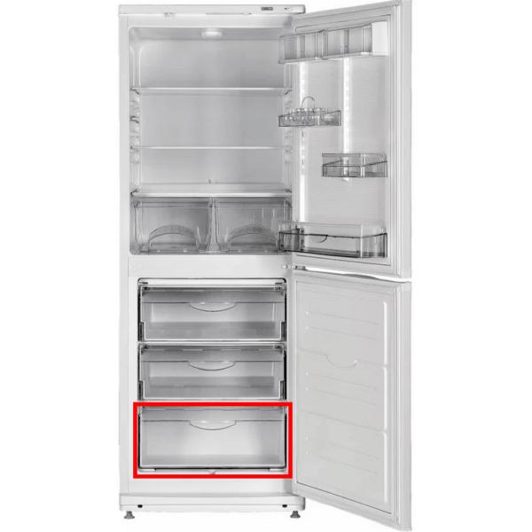 Прозрачная передняя панель 774142100900 нижнего пластикового поддона морозильной камеры холодильников Атлант МХМ-184*, ХМ-40**, 47**, 50**, 60**, 63** - серии и др. Передний щиток 100900 нижнего выдвижного ящика морозилки Атлант. Габаритные размеры: 470х210 мм.