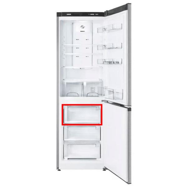 Прозрачная передняя панель 774142101200 для пластикового поддона морозильной камеры холодильников Атлант. Передний щиток верхнего выдвижных ящиков морозилки для Атлант ХМ-4421/4423/4424/4425/4426-(N, ND). Габаритные размеры: 430х220 мм.