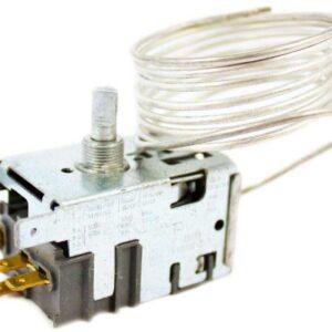 Термостат Danfoss 077B5239 однокамерных холодильников МХ-5810, МХ-5811. Датчик реле температуры 077В5239. Длина капиллярной (сильфонной) трубки: 1,2 метра. Подключение: 4 клеммы + 2 клеммы заземление. Аналог: К57-L5550, К57-L5574, ТАМ-112-1М-82. Режим работы: - тепло включение 8.5°С, отключение -8.1°C, - холод включение 2.6°C, отключение -18.4°C. Взаимосвязанные коды, аналоги: - Атлант 908081400050, 908081400194, 908081450195, 908081475574, 908081475574, - Ranco К57-L5550, K57L5550, - Ranco К57-L5574, K57L5574, - ТАМ112-1М-82-1.2-6.3-2-А, TAM112-1M-82-1.2-4.8-2-A Для холодильников Атлант: МХ-5810, MX-5810, МХ5810, MX5810