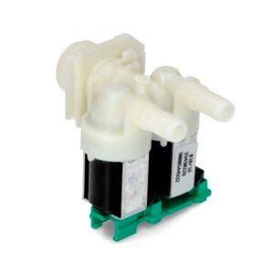 Электромагнитный клапан подачи, залива воды к стиральной машине Bosch MAXX CLASSIXX LOGIXX , Siemens SIWAMAT, Neff (Бош, Сименс, Нефф) Заливной клапан к стиральной машине имеет резьбу под шланг залива воды 3/4, крепиться на одном или двух саморезах. Впускной клапан 2/180 (2Wx180), диаметр выходной 10 мм, выход воды прямо под 180 ° . Предназначен для подачи, залива воды до T 60 °C, полярности нет, 220-240 V 50-60 Hz, магнитная катушка съемная, может переставляться в зависимости от места установки, производство Италия Двойной электроклапан к стиралке имеет коды взаимозамен: 00174261 / 00626528 Подходит для стиральных машин: Bosch Siemens -MAXX 4 COMFORT WFC1666 (WFC1666IT/01) Bosch Siemens -MAXX 4 COMFORT WFC1666 (WFC1666IT/02) Bosch Siemens -MAXX 4 COMFORT WFC1666 (WFC1666IT/03) Bosch Siemens -MAXX 4 COMFORT WFC2066 (WFC2066IT/01) Bosch Siemens -MAXX 4 COMFORT WFC2066 (WFC2066IT/02) Bosch Siemens -MAXX 4 COMFORT WFC2066 (WFC2066IT/03) Bosch Siemens 1200 / 7KG (W5420X0FF/14) Bosch Siemens 1200 / 7KG (W5420X0FF/18) Bosch Siemens 3TS84100A/01 Bosch Siemens 3TS84100A/03 Bosch Siemens 3TS84100A/04 Bosch Siemens 3TS84100A/05 Bosch Siemens 3TS84120A/01 Bosch Siemens 3TS84120A/03 Bosch Siemens 3TS84120A/04 Bosch Siemens 3TS84120A/05 Bosch Siemens 3TS84120X/05 Bosch Siemens 3TS84140A/01 Bosch Siemens 3TS84140A/03 Bosch Siemens 3TS84140A/04 Bosch Siemens 3TS84140A/05 Bosch Siemens 3TS84160A/01 Bosch Siemens 3TS84160A/03 Bosch Siemens 3TS84160A/04 Bosch Siemens 3TS84160A/05 Bosch Siemens 7 KG IQ300 7KG/ AQUASECURE (WI12S127EE/47) Bosch Siemens 7 KG IQ300 AQUASECURE (WI12S121EE/32) Bosch Siemens 7 KG IQ300 AQUASECURE (WI12S121EE/47) Bosch Siemens 8KG S10.36 (WM10S360TR/14) Bosch Siemens 8KG S10.36 (WM10S360TR/16) Bosch Siemens 8KG S10.36 (WM10S360TR/18) Bosch Siemens 8KG S12.36 (WM12S360TR/14) Bosch Siemens 8KG S12.36 (WM12S360TR/16) Bosch Siemens 8KG S12.36 (WM12S360TR/18) Bosch Siemens 8KG S14.36 (WM14S360FG/12) Bosch Siemens 8KG S14.36 (WM14S360FG/14) Bosch Siemens 8KG S14.36