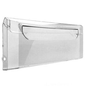 Прозрачная передняя панель 774142101100 пластикового поддона морозильной камеры холодильников Атлант. Передний щиток нижнего и среднего выдвижных ящиков морозилки для Атлант ХМ-4421/4423/4424/4425/4426-(N, ND). Передний щиток всех выдвижных ящиков морозилки для Атлант ХМ-5119/5124/5126-F. Габаритные размеры: 430х195 мм. Маркировка на изделии: МКАУ.741421.011 (741421011).