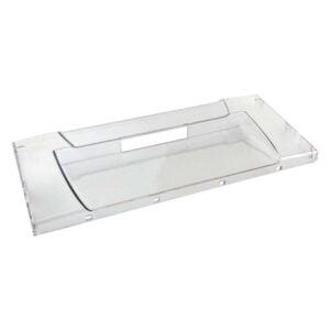 Прозрачная передняя панель C00856032 (C00268722) для пластикового поддона морозильной камеры холодильников Аристон, Индезит. Широкий передний щиток 856032 / 268722 нижнего и среднего выдвижных ящиков холодильников Indesit (C, SB, NBS), Ariston (МВ, МВА). Крышка ящика морозильника Indesit, Ariston и др. Габаритные размеры: 455х195 мм. Цвет: бесцветная, прозрачная. Материал: пластик, литой. Полный код запчасти: C00856032 (альтернативный C00268722, C00857211). *Используется с пластиковым поддоном: C00857048, C00857049.