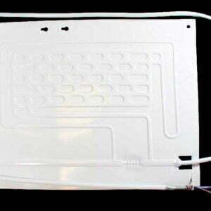 Одноканальный плачущий испаритель 430x320 мм. для бытовых холодильников. Испаритель холодильной камеры (отделения). Подключение: один медный канал с капиллярной трубкой. Пластины испарителя: алюминиевая, штампованная.
