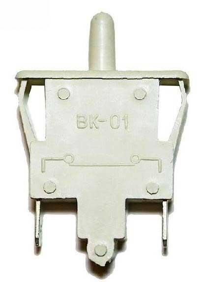 Выключатель ВК-01, ВОК-03 света для холодильников Индезит, Аристон. Кнопка света С00851049 холодильников Indesit (B, C, N, R, S, T), Ariston (HBM, HTM, IB, MB*, MT*, RMB*, RMT*, SD). Количество контактов: 2. Напряжение питания: 250V, 0.25А. Выключатель рычажного типа (механический). Взаимосвязанные коды: C00851049, 851049 Для холодильников Ariston: MBA1167(LZ), MB1167NF(LZ), MBA2185(LZ), MB2185NF(LZ), MBA2200(LZ), MBA1167S(LZ), MBA1167X(LZ), MBA2185X(LZ), MBA2200X(LZ), MTA1167, MTA1185, MT1185NFX(LZ), MBA2185SL(LZ), MBA2200SL(LZ), FQ76C.2(ICE), MBA1185V(LZ), MBA1200V(LZ); Для холодильников Hotpoint-Ariston: RMBA1167, RMBA1167S, RMBA1167X, RMBA1200.LV, RMBA1185.LV, RMBA2200.L, RMBA2200.LS, RMBA2200.LX, RMBA2185.L, RMBA2185.LS, RMBA2185.LX, RMTA1167.L, RMTA1167.LX, RMTA1185, RMTA1185X, RMT1185NF, RMT1185XNF, MP85X/HA, RMBA1185.LSV, RMT1167GA, RMT1175GA, RMT1175GAX, RMB1185, RMBA1167CR, RMTA1185CR, RMTA1167.LCR, RMB1185SB, RMBA11851, RMBA2200.LXH, RMBA2200.LH, RMBA2200.LSH, RMBA1200.LVH, RMBA12002.LVH, HBM1181.4SV, HBM1181.4V, HBM1201.4V, HBM1161.2CR, HBM1181.3H, HBM1181.3SH, HBM2201.4H, HBD1181.3H, HBM1181.3, HBM1201.4H, HBM1161.2, HBM1201.4, HBM1201.4SH, HBM1201.3, HBM2201.4XH, HBM1161.2X, HBM1181.4SB, HBM2181.4, HBM2181.4X, HTM1161.2, HTM1161.2X, HTM1181.2, HBM1201.1, HBM1180.4, HTM1161.20, HTM1161.2S, HBM1182.4H, HBM1181.3M, HBM1202.4M, EC2011, EC1824H, ED1612, HBM1182.4V(UA), HFE4180W, HF4181X, HF4180W, HF4180M, HS3180W, HS3200W, HF4200M, HDC318W; Для холодильников Indesit: CA132(LZ), C236(LZ), C138(LZ), RA32(LZ), CA140(LZ), C240(LZ), R36NF(LZ), R27(LZ), C132NF(LZ), C236NF(LZ), C138NF(LZ), C138S(LZ), CA140S(LZ), C236S(LZ), C132S(LZ), C240S(LZ), C132NFS(LZ), C138NFS(LZ), C236NFS(LZ), R36NFS(LZ), RA36(LZ), C138T(LZ), CA132T(LZ), C238G, TT85, CA140GINOX(LZ), C236GINOX(LZ), C240GXDRAWER(LZ), TT85T(LZ), B16(LZ), B16S(LZ), B16T(LZ), B16NF(LZ), B18(LZ), B18S(LZ), B18T(LZ), BH180(LZ), BH180S(LZ), BH180X(LZ), BH18(LZ), B18NF(LZ), B18NFS(LZ), BH180NF(LZ), BH180NFS(LZ), BH18