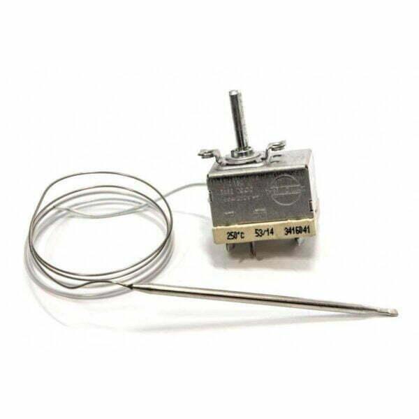 Максимальная температура - 250°C., Длина капилляра - 1000 мм, 2 контакта подключение, Высота штока - 23 мм, 16A, 250V. Короткий баллон - 80мм.