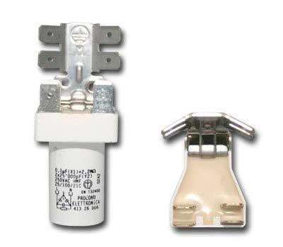 Сетевой фильтр 0.1 mF + 2x0.02 mF, контакты на пластине, 065987