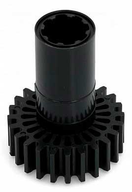 Шестерня мясорубки Braun 4195612 (крупная, черная) G, KGZ - серий