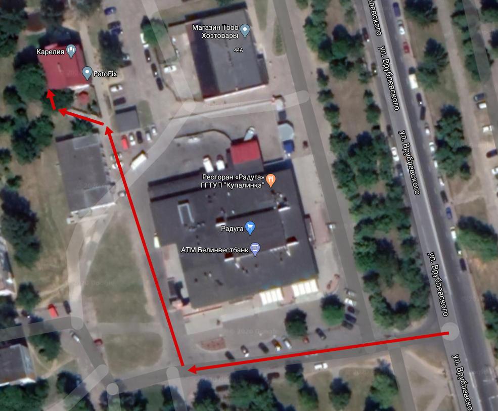 как проехать к магазину запчастей для бытовой техники в Гродно