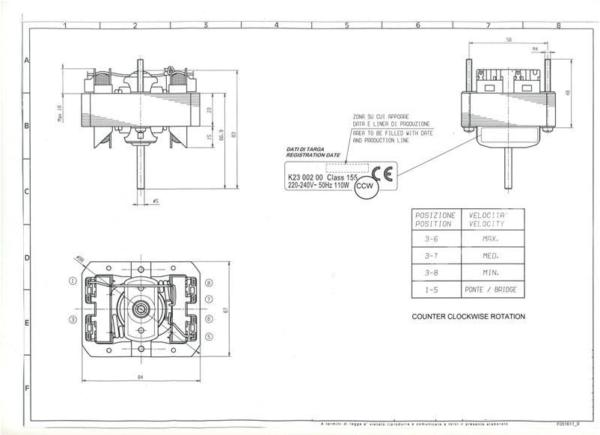Двигатель для кухонной вытяжки Amica, Whirlpool, Mastercook, AEG, Electrolux, Zanussi, Gorenje