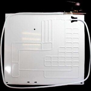 Одноканальный плачущий испаритель 450x400 мм. для бытовых холодильников. Испаритель холодильной камеры (отделения). Подключение: один медный канал с капиллярной трубкой. Пластины испарителя: алюминиевая, штампованная.